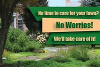 Lawn care and mowing services ( starting at $30 )