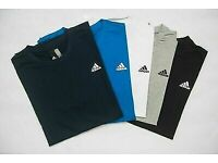 Men's Adidas Essentials Base Short Sleeve Round Crew Neck T-shirts New Tagged & Bagged