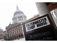 Commis Waiter / Waitress - Well-known British Restaurant St Pauls - Paternoster Chop House