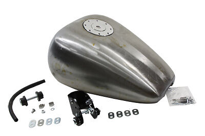 Bobbed 3.0 Gallon Gas Tank, Fits XL 1982-2003, w/ locking aircraft style gas cap