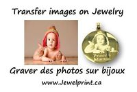 Gravure Image photo sur Bijoux |  Picture Engraving Jewelry