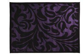 Beautiful Black & Purple Swirl Rug For Sale !! 180 x 230