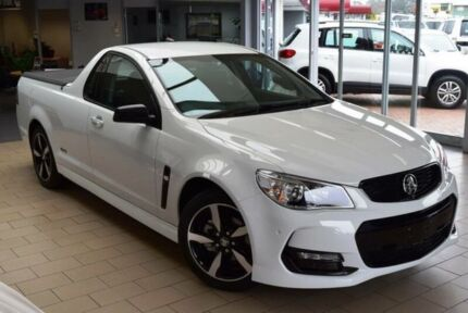 2016 Holden Ute Vfii MY16 SV6 Black Edition Heron White 6 Speed Automatic Utility