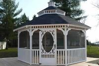 Custome wood gazebos for sale