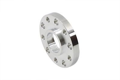 """Polished 1/2"""" thick spacer, double threaded, mount pulley/sprocket @ pre-'00 hub"""