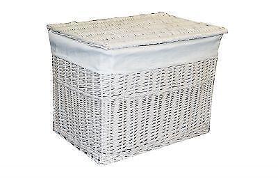 Wicker Storage Box With Lid Ebay