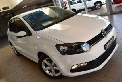2015 Volkswagen Polo 6R MY16 66 TSI Trendline Pure White 5 Speed Manual Hatchback