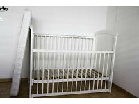 Mothercare Baby cot (Mattress included)