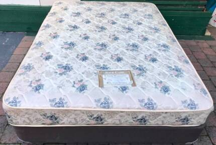 Comfortable Queen Bed Set for sale. Delivery option available