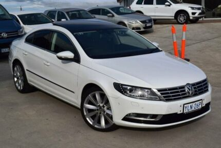 2015 Volkswagen CC 3C MY15 130 TDI Candy White 6 Speed Direct Shift Coupe