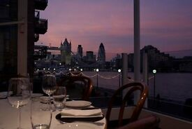 Restaurant by Tower bridge is looking for waiters/commis waiters