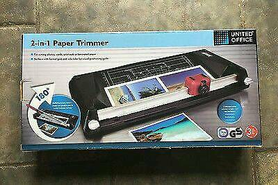 2 In 1 Paper Trimmer Guillotine Rotary Trimmer United