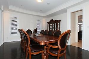 11 Piece  Dining Set with Hutch/buffet