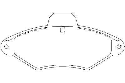 Brake Pad Set Mintex MDB1629 Fits Front