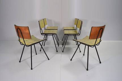 Vintage Mid Century Dining Lounge Chairs Parker Danish Fler Era
