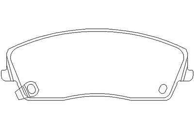 Brake Pad Set Mintex MDB2697 Fits Front
