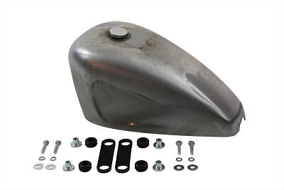 Indented 2.4 Gallon Peanut Gas Fuel Tank Harley Sportster Bobber Chopper