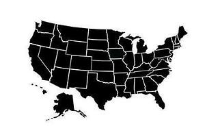 USA Map Posters Prints EBay - Black and white usa map