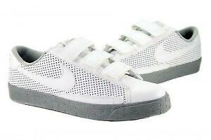 Mens White Velcro Sneakers Peltz Shoes