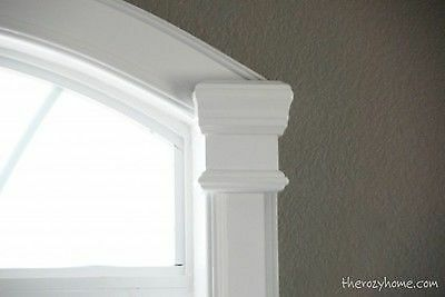 Thick curvy molding makes windows amazing! image: The Rozy Home