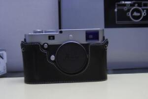 Leica M-P 240 Silver with Leather Half Case, 90 days store warranty