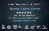 Spotless Cleaning serving Strathroy & Area