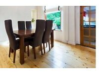 Dining Table & 6 high back chairs