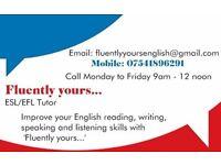 Fluently English language tuition