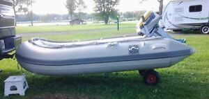 Rubberduck Dinghy 9' with an Evinrude 6HP motor