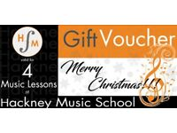 Hackney Music School - Christmas Gift Voucher - Lesson Piano, Violin, Guitar, Drums, Sax in Hackney