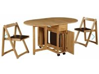 Stowaway Drop Leaf Dining Table and 4 Chairs - Ex Debenhams £550 new