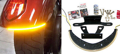 Victory Vegas LED Fender Turn Signal Kit w/ Tag Light and Bracket - Smoked Lens