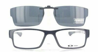 Custom Made for Oakley Airdrop OX8046-55X18 Polarized Clip-On Sunglasses (Custom Made Clip On Sunglasses)