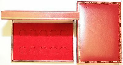 De-luxe Padded Coin Cases To Hold 10 Full Sovereigns or 10 Half Sovereigns