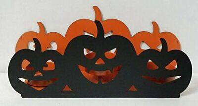 All Hallows Eve Black Pumpkin Luminary Tealight Holder Yankee Candle NEW lantern