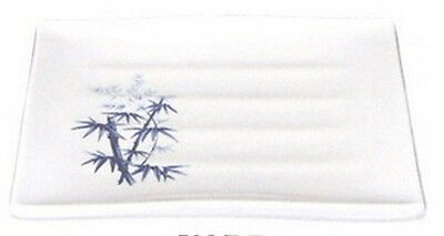 Bamboo Melamine Japanese Sushi Plate 7.75x6.75in 508-BZ S-2331 AU