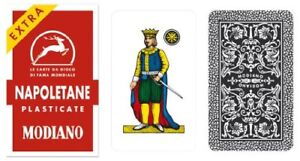 Modiano Napoletane 97/25 Italian Regional Plastic Playing Cards