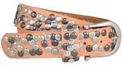 Gürtel Orange Leder