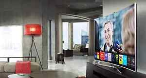 Samsung 55 inch HD LED TV - curved Kitchener / Waterloo Kitchener Area image 1