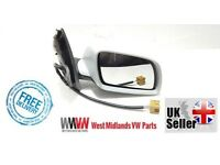 NEW VW POLO MK5 9N 2002-2005 ELECTRIC DOOR WING MIRROR DRIVERS SIDE O/S