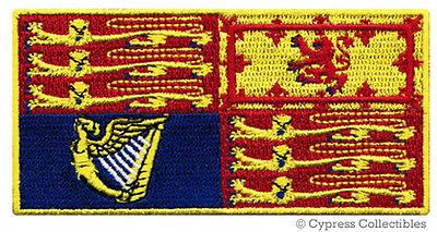QUEEN ELIZABETH II FLAG PATCH iron-on ROYAL STANDARD BRITISH ROYALTY SOUVENIR UK