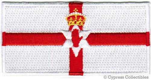 NORTHERN IRELAND FLAG embroidered iron-on PATCH IRISH UK UNITED KINGDOM IRISH
