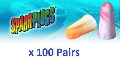 100 Earplugs Moldex Sparkplugs Individually Wrapped