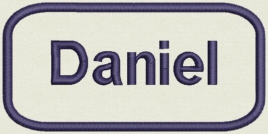 Embroidered Name for Uniform, work Shirt - Daniel