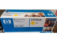 GENUINE HP Color Laserjet Printer YELLOW Toner Cartridge (C9702A) Sealed in box