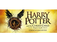 Harry Potter and the Cursed Child Part 1 and Part 2 Sat 14/01 6th Row Stalls