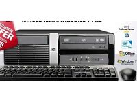 HP PRO 3010 SFF PC ..INTEL DUAL CORE @ 2.7GHZ. 4GB , 500GB WINDOW 7 free WIFI.