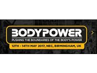 BodyPower expo Birmingham - Friday 12 May - 3 Standard tickets available