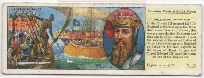 King Edward III Battle Of Sluys Hundred Years