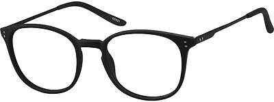 Zenni Optical 727021 Lightweight Round Eyeglass Frames Black 48 19 138 New